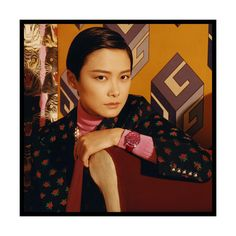 Presenting Chris Lee @urnotchrislee in a new #GucciTimepieces and jewelry campaign for Asia, in a G-Timeless watch with stainless steel case, cherry red mother-of-pearl dial and cherry red lizard strap. #AlessandroMichele