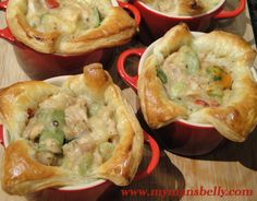 Inside out chicken pot pie!