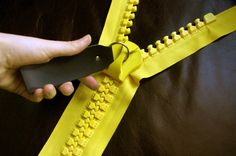 Yay, it's our zippers! -   GIANT no.30 ZIPPER in YELLOW - fully-separating style - huge cosplay zips via Etsy. (Thank you to SummerDee for originally posting our work to Pinterest!)