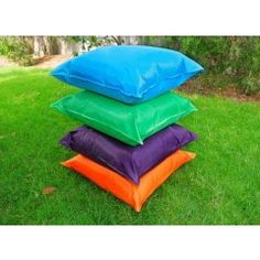 4 Massive outdoor Cushions with Inners, ideal for outdoor learning activities,  and class learning