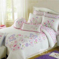 High Quality Embroided Cotton 4-Piece Bed in a Bag Set - beddinginn.com