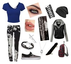 """Skating around town"" by acunaalicia ❤ liked on Polyvore"