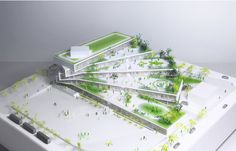Wilson Secondary School by BIG Bjarke Ingels Group – aasarchitecture Green Architecture, School Architecture, Sustainable Architecture, Architecture Design, Bjarke Ingels Architecture, Habitat Collectif, Green School, Arch Model, Secondary School