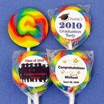 Personalized Mini Swirl Graduation Lollipops