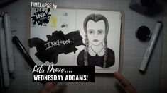 Drawing Wednesday Addams - Bad Ass Ladies of Horror - Inktober - Timelapse Art Zombie Plague, Wednesday Addams, Inktober, Badass, Horror, Drawings, Art, Art Background, Kunst