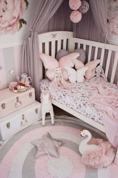 Lottie Rug / Ginger and Pear Girl Bedroom Designs, Room Ideas Bedroom, Baby Room Decor, Little Girl Bedrooms, Girls Bedroom, Baby Girl Bedroom Ideas, Kids Bedroom Ideas For Girls Toddler, Childrens Bedrooms Girls, Toddler Rooms