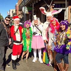 Anything is possible on Bourbon street #byenola #mardigras2016 #bourbon #bourbonstreet #toothfairy #santa #easterbunny #flowerchildren #neworleans #mardigras #frenchquarter #parades #carnival by ojades