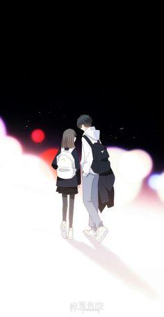 Anime Couples I only need you in my world. Couple Anime Manga, Anime Cupples, Kawaii Anime, Love Cartoon Couple, Cute Love Cartoons, Anime Love Couple, Girl Cartoon, Cute Couple Drawings, Cute Couple Art