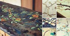 Aprende paso a paso cómo decorar con mosaicos una mesa para lograr una pieza original y creativa reutilizando pequeños trozos de cerámica, vidrio o piedra.