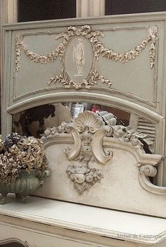 French Trumeau Mirror - so ornate! Shabby Vintage, Vintage Decor, Shabby Chic, Bedroom Vintage, French Vintage, Vintage Style, French Decor, French Country Decorating, French Furniture
