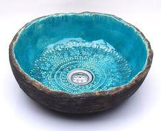 unusual original handmade basin Top and abrasions sink Etsy