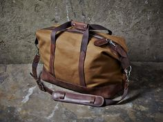 474052955046 Tough-luxe, Monty Holdall in heavy duty, 24oz British Heritage canvas with  premium