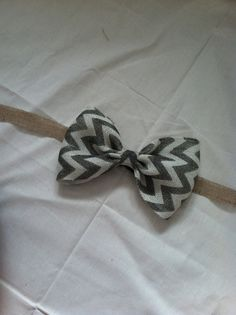 Chevron Burlap Curtain Tie Backs