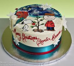 Charlie Brown Christmas Cake FOR GOODNESS SAKE IF SOMEONE LOVES ME, PLEASE MAKE ME THIS.