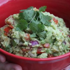 It's my birthday and I can eat what I want to.  Guacamole complete with a Salsa Lizano kick!