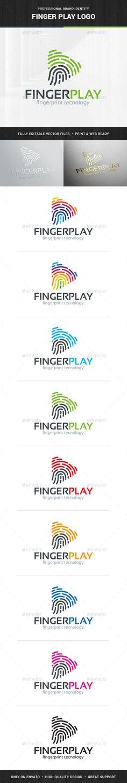 Fingerprint Play   Logo Design Template Vector #logotype Download it here: http://graphicriver.net/item/fingerprint-play-logo-template/13839378?s_rank=330?ref=nesto