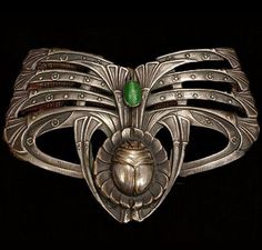 Art Nouveau Scarab and Papyrus brooch.