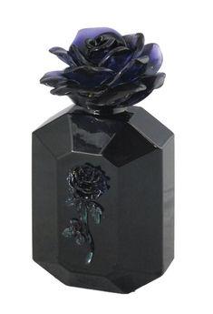 BLACK ROSE PERFUME BOTTLE (BLACK W/ BLACK ROSE) : Lot 973U