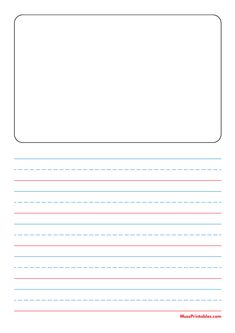 Printable Blue and Red Story Handwriting Paper (3/4-inch Portrait) for A4 Paper A4 Paper, Printable Paper, Handwriting, Free Printables, Templates, Portrait, Red, Blue, Calligraphy