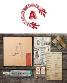 lovely branding and menu design