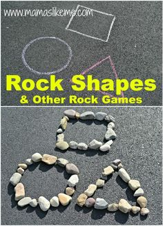 Rock Shapes & Other Shape Games from Mamas Like Me: