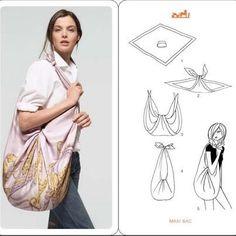 Bolsa feita a partir de um lenço.