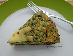 Gourmet Girl Cooks: Spicy Sausage & Spinach Pie -- Low Carb & Wheat-free