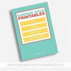 The key to a successful garage sale is to be organised. This pack includes a checklist which will help you organise a garage sale along with signs to advertise and place around your items for sale.