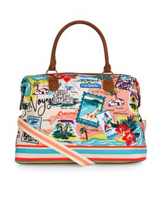 Bon Voyage Map Weekender Bag | Multi | Accessorize