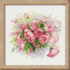 """Вышивалка: Скачать схему вышивки Riolis 1335 """"Акварельные розы"""""""