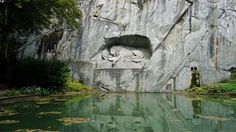 Lion Monument, Lucerne, Switzerland. Fallen Soldiers. Full post at www.livelocalthinktourist.com