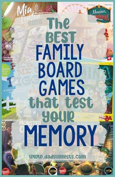 Discover the best family board games that test your memory. These family games are perfect for gameschooling and exercising your brain without even realizing it. Many of these beloved games encourage storytelling as well, and they're a great choice for family game night. #gameschooling #kidsgames #familygamenight #teachingmemory #memorygames #familyboardgames #boardgames #dadsuggests Best Family Board Games, Fun Board Games, Family Games, Games To Play With Kids, Activities For Kids, Cooperative Games, Cool Gifts For Kids, Memory Games, Family Game Night