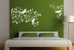 Tree branch and bird wall decal.