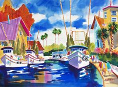 Tarpon View ~ Ellen Negley, watercolor