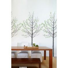 Blik Wall Decal - Seasons See, i can't keep indoor plants alive, no matter how I try. Man-made trees like these, they were made for quietly inept people like me.