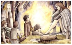 Meeting with the Elves (The Fellowship of the Ring, Book I, Chapter 3) ~ Peter Xavier Price.