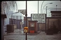 Berlin - February 1982 - border crossing Oberbaumbrücke by LimitedExpress, via Flickr