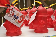 Fire truck themed party favors