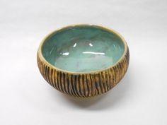 Pottery Bowl Ceramic Bowl Serving Bowl Wood by PotteryBySaleek