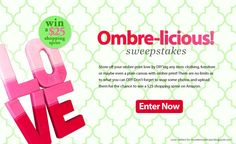 We're loving Ombre just as much as you are! DIY and WIN! Have YOU taken a Craftbaby Challenge?
