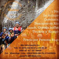 Un día de #aventura en #filobobos www.filobobos.com #Veracruz