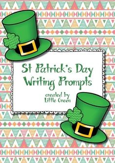 New in the Little Green store: {FREE} St Patrick's Day Writing Prompt Worksheets!