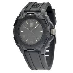 nice Luminox Men's 0201.BO Sentry 0200 Blackout With Rubber Band Watch  –