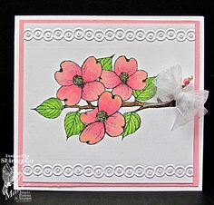 Made with Dogwood Blossoms stamps from Mark's Finest Paper.