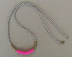 Pink necklace from www.etsy.com/africanstreetvibe #African_fashion #African_woman #beads #necklace #street_style #urban