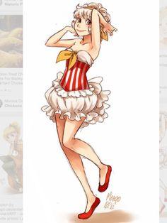 Popcorn fullbody! The dress is so realistic...