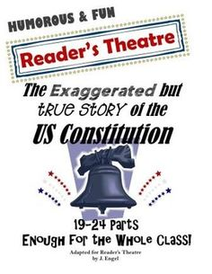 Do your students love humorous stories? Mine do! That's why I created this witty Reader's Theatre script and unit based upon an often neglected part of history, The US Constitution. Dont be surprised if you and your class are laughing aloud often from the hilarious characters and one liners!