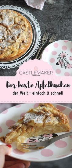 World& best apple pie . so delicious and amazingly easy- Weltbester Apfelkuchen….so lecker und verblüffend einfach With this apple pie you can really … - Apple Cake Recipes, Easy Cheesecake Recipes, Chocolate Cookie Recipes, Easy Cookie Recipes, Dessert Recipes, Tart Recipes, Best Apple Pie, Chip Cookie Recipe, Cupcakes