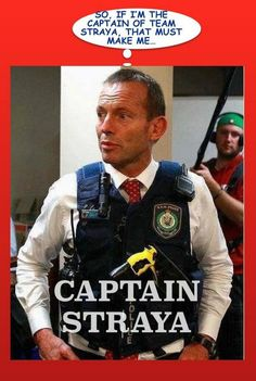What no parachute, straightjacket, anchor, bullbar, propeller on a hat? #auspol pic.twitter.com/DhSQy0aMdi Embedded image permalink