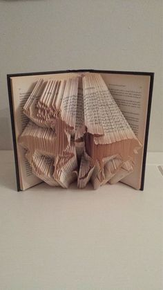 Book Folding Pattern for a pair of Deer by BookFoldingForever